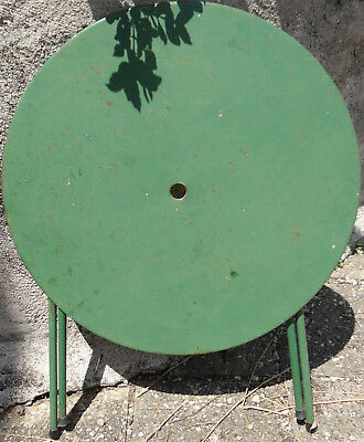 TABLE DE JARDIN pliante en fer forgé ronde 80 x 70 cm ancienne qualité  FRANCE BE