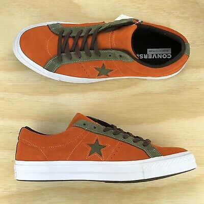 95abb7e661091 CONVERSE ONE STAR Pro Ox Orange Green White Casual Skating Shoes ...