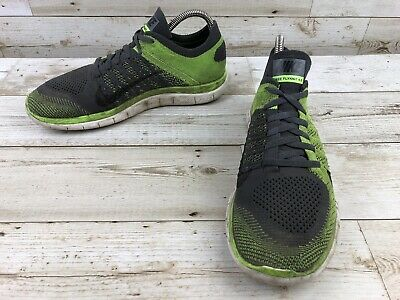 the best attitude a051b 1c717 Nike Free 4.0 Flyknit Neon Yellow Running Shoes Men s Size 8 Sneakers 631053 -003