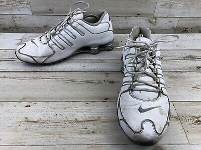 huge selection of fd132 f46a1 Nike Shox NZ Premium White Running Shoes Men s Size 12 Black Sneakers 378341 -149