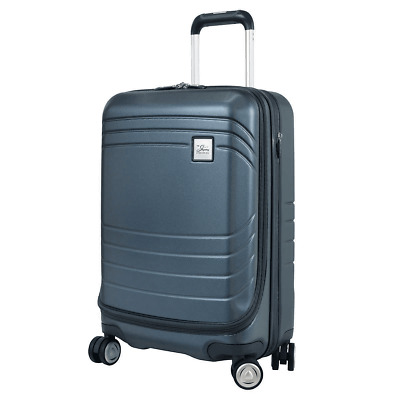 NEW Skyway Luggage Cascadia Carry-On Blue Expandable Spinner Dual Wheel System