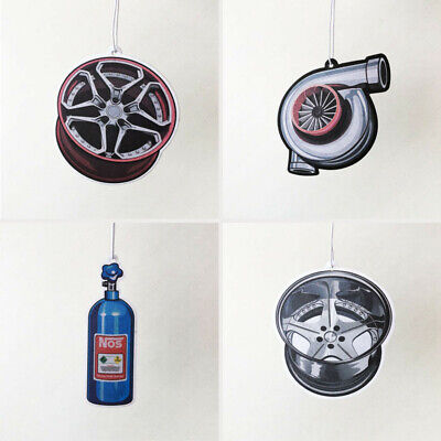 Creative Car Perfume Card Hanging Wheel Hub Piston Turbo Air Freshener Deodorant