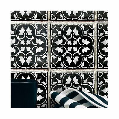 Furniture Wall Floor Stencil for Painting CASSIS Mediterranean Moroccan Tile