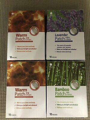 4 Packs Essence of Nature Foot Pads Lavender Warm Bamboo 40 Patches Total