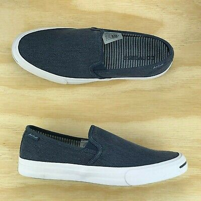 Converse Jack Purcell II JP Navy Blue White Slip On Casual Shoes 153036C  Size 450005216