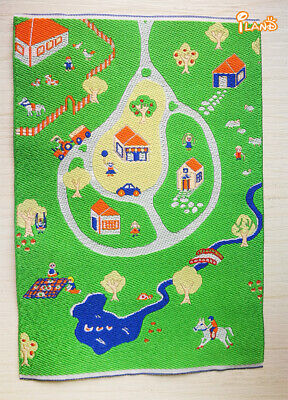"1//12 Dollhouse Miniature Embroidered Carpet Rug  6/""x10/"" #OR204"