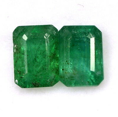 2.17 Cts Certified Natural Emerald Octagon Cut 6.80x5 mm Faceted Loose Gemstones