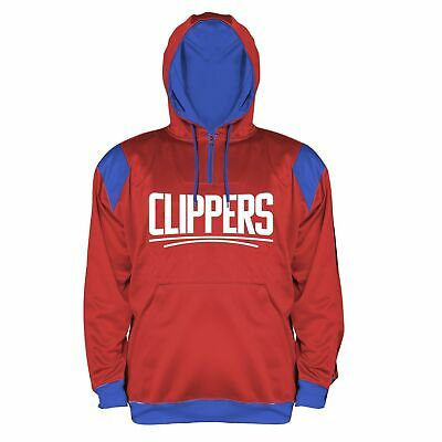 ab41ba24eee NBA Los Angeles Clippers Men's Big & Tall 1/4 Zip Synthetic Pullover Hoodie,