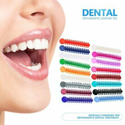 40x Dental Orthodontic Ligature Ties Elastic Rubber Band Multi Color Oral Care
