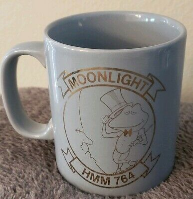 New USN HELICOPTER HMM-764 MOONLIGHT  PARCHE Coffee Mug Cup Marine Corps Air