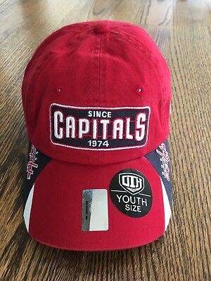 9cb74a4fcfd NHL Washington Capitals Baseball Hat Cap Kid Boys Youth Hockey Adjustable  NWT