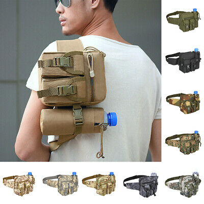 Tactical Waist Pack Camp Outdoor Hiking Military Pouch Water Bottle Belt Bag 1PC