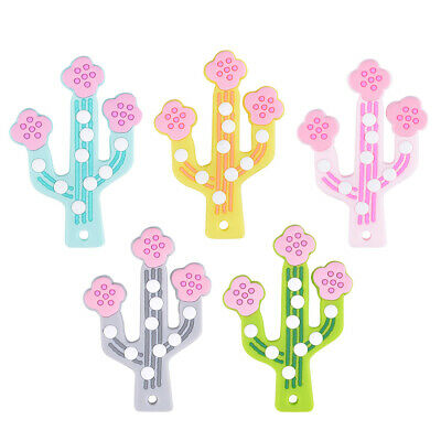 Cactus Silicone Teether Baby Teething Pendant Nursing Silicone Beads Toys DIY