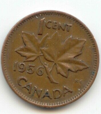 Canada 1956 Canadian Copper PENNY one cent 1c EXACT COIN SHOWN