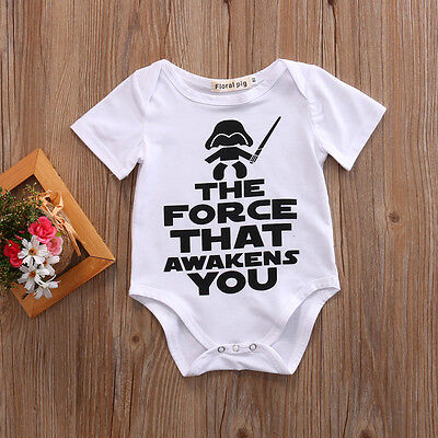 US Newborn Baby Boy Girl Unisex Clothes Cotton Romper Bodysuit Playsuit Outfits