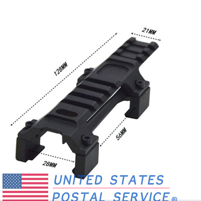 Black Long Scope Mount With 20mm Weaver Rail For Pistol Airsoft Hunting Mount