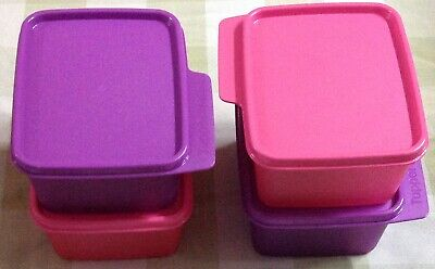 Tupperware Keep Tabs Small Set of 4- 500ml each in 2 different colors-New
