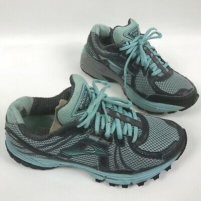 30eae49ade8b3 BROOKS ADRENALINE ASR Trail Running Shoes Womens Size 8 Teal Blue ...