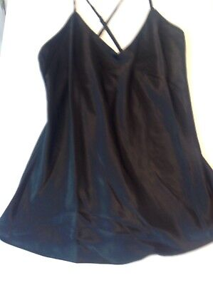 Epris Black V Neck Sexy Camisole Teddie Nightgown Sleepwear lingerie Size Medium