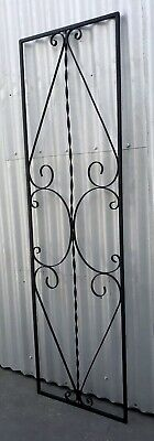 Vintage Retro Decorative Wrought Iron Metal Door Grill Garden Wall Coburg Melb