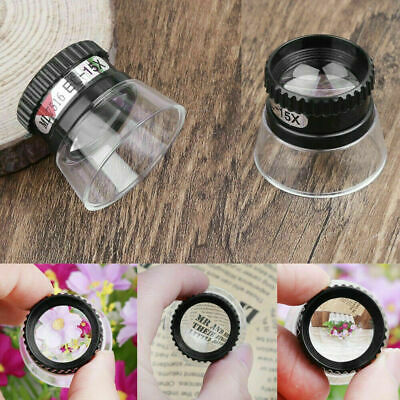 15X Monocular Magnifying Glass Loupe Lens Eye Magnifier Jewelry Repair Tools