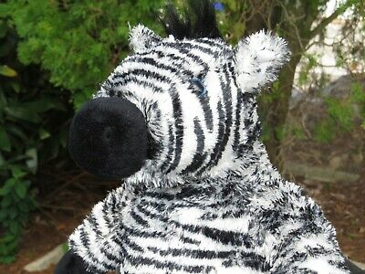 RARE VINTAGE THE Bear Factory Zebra w/Winnie Sound Plush Stuffed Animal Doll