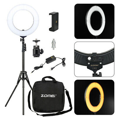 Studio LED 58W 18 INCH Photo Video Ring Light + Camera iPhone Holder + Stand UK