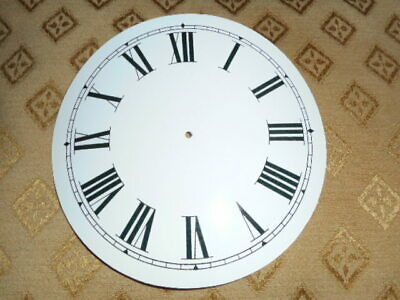 Round Paper Clock Dial-128mm M/T -Roman -GLOSS WHITE-Face / Clock Parts/Spares #