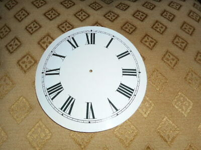 Round Paper Clock Dial- 90mm M/T - Roman - WHITE GLOSS-Face/Clock Parts/Spares *