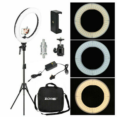 "18"" LED Ring Light w/ 2M Stand Dimmable LED Lighting Kit For Makeup Youtube Live"