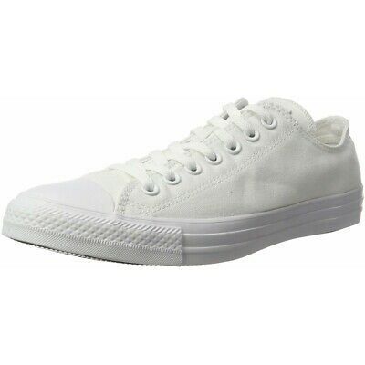 ee2199880e74 Converse Chuck Taylor All Star Ox White Monochrome Textile Adult Trainers  Shoes