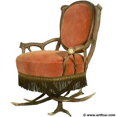 antler easy chair austria ca. 1880