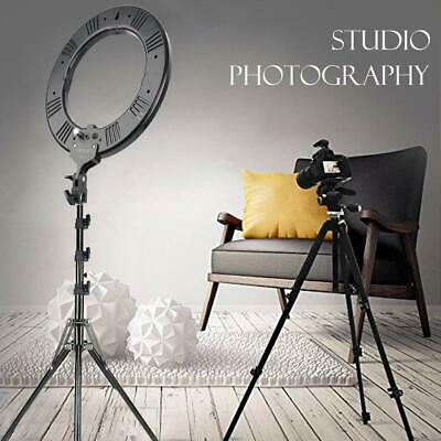 """18"""" LED SMD Ring Light Kit w/Stand&Holder for Dimmable 5500K Makeup Phone Camera"""