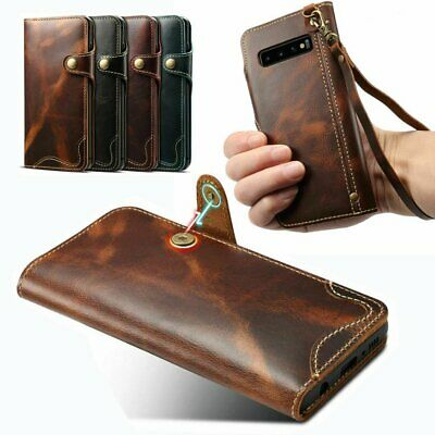 Genuine Magnetic Leather Case For Samsung Galaxy S10E S10 Plus Flip Wallet Cover