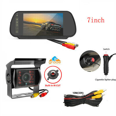 """5""""Car Wireless Rear View Parking Kit HD Cup Suction Monitor+LED IR Backup Camera"""