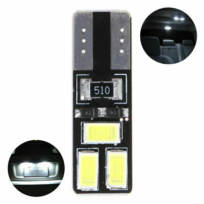4x T10 5630 6SMD W5W Car CANBUS LED No Error Width Light License Plate Lamp