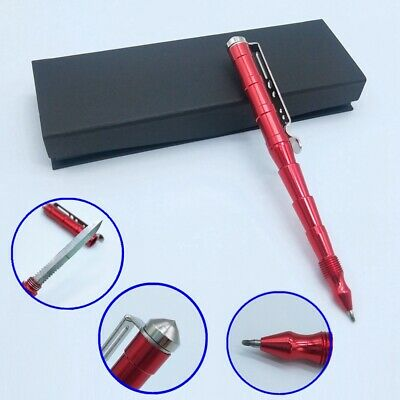 Self Defense Tactical Pen with Window Glass Breaker/Ballpoint Pens Writing/Knife