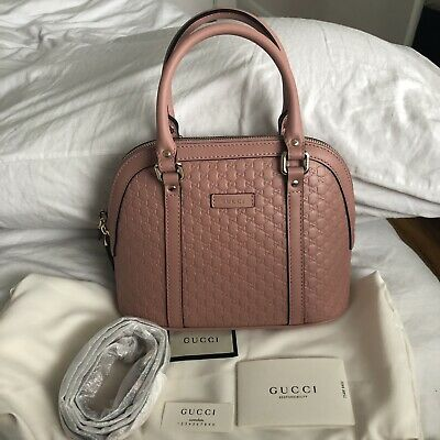 13c7dbbd315 Brand New Authentic Gucci Microguccissima Mini Dome Satchel Handbag Soft  Pink