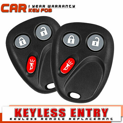 2 Keyless Entry Remote Key Fob Replacement 2003-2006 Chevy Avalanche 1500//2500