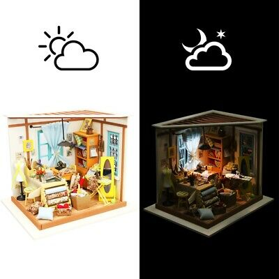 Robotime DIY Dollhouse Tailor Shop with Furniture Miniature Toy Gift for Girls