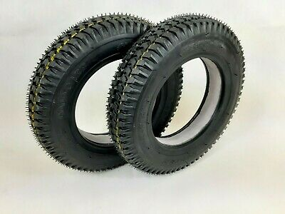PAIR OF SOLID 3.00-8 (300x8) Mobility Scooter tyres, (Good Care) BLACK.