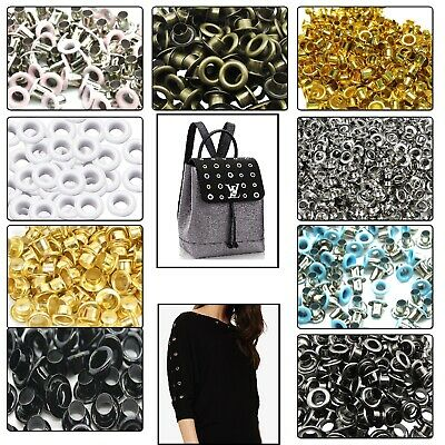 100pcs 2mm-12mm Brass Eyelets Grommets Clothing Craft Repair Bag Shoes Belt DIY