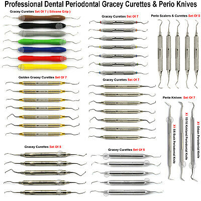 Periodontal Gracey Curettes Root Scailing Subgingival Scaler Sickle Perio Knives