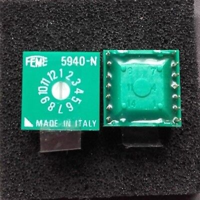 12 Position Rotary DIP Switch 5940-N Feme made in italy