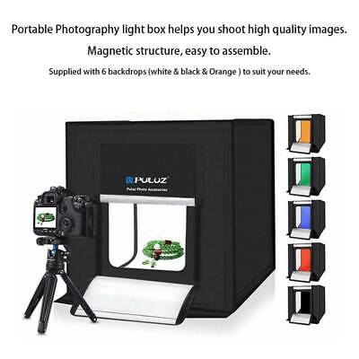 PULUZ Light Room Photo Studio Photography LED Lighting Tent Box Kit & 6 Backdrop