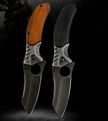 STILETTO TAC FORCE MILANO TACTICAL WOOD SPRING ASSISTED FOLDING KNIFE Pocket