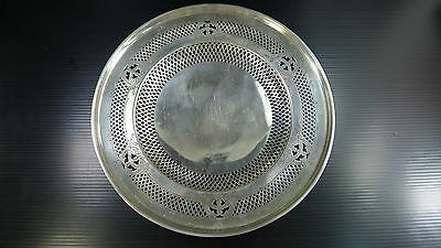 AN ANTIQUE/VINTAGE 180 gr. STERLING SILVER TRAY PLATE by SMITH PATTERSON BOSTON