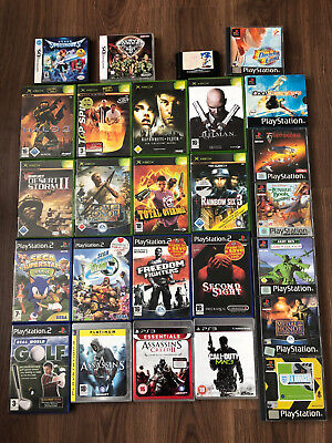 Lot of 26x video games PS1 PS2 PS3 Nintendo DS Xbox Classic Sega Good Titles
