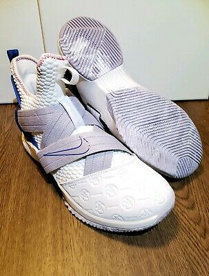 separation shoes cd00c 015de Nike Lebron Soldier XII Mens Sz 9 Basketball Shoes AO2609-101 White  Province New