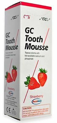 GC Tooth Mousse With Tooth Replenishing Calcium For Stronger Teeth Strawberry